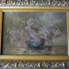 tablou vechi, antebelic,  liliac