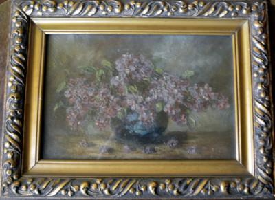 liliac - tablou vechi, antebelic foto