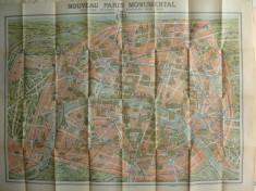 Paris si imprejurimile - Plan Monumental - interbelic foto