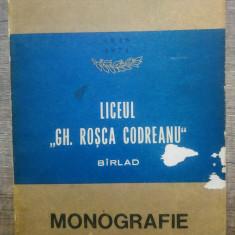 """Liceul ,,Gh. Rosca Codreanu"""", Barlad - Traian Nicola"""