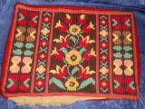Fata de perna vintage, lucrata kilim
