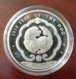 BHUTAN - Anul Cainelui 2018 - Moneda Lingou 31.101  gr. Argint .999 ( 1 oz. ), Asia