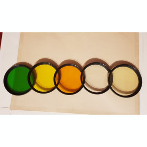 Set 5 filtre colorate si UV pe filet 72mm rusesti Zenit, Tair