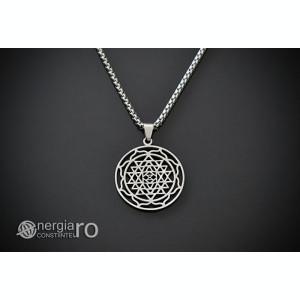 Pandantiv Sri Yantra INOX, Amuletă, Talisman - cod PND120