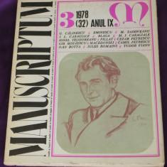 Revista Manuscriptum nr 3 1978 (f3120