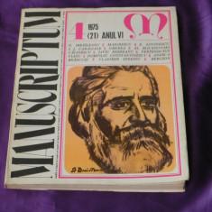 Revista Manuscriptum nr 4 1975 (f3116