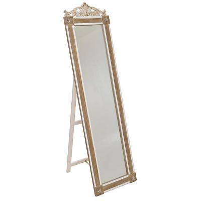 Oglinda de podea din lemn Loire foto