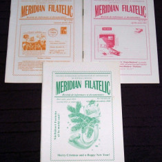 Moldova 2000-2001 - 3 reviste Meridian Filatelic, filatelie, maxime, cartofilie