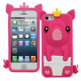 Husa APPLE iPhone 4\4S - 3D (Porc - Roz), iPhone 4/4S, Plastic, Carcasa
