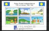 PALAU  INDEP. POSTALA  MI BLOCK 3  MNH