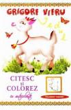 Citesc si colorez cu autocolante: Iedul - Grigore Vieru, Grigore Vieru