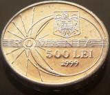 Moneda 500 Lei - ROMÂNIA, anul 1999  * cod 3090 -- ECLIPSA UNC DIN SACULET BNR!, Aluminiu