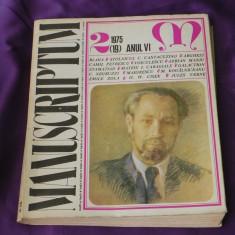 Revista Manuscriptum nr 2 1975 (f3115