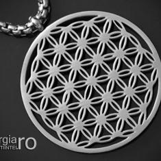Pandantiv Floarea Vietii, Amuleta, Talisman, Medalion, INOX  - cod PND090