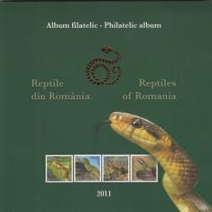 ROMANIA  2011 LP 1887 c  REPTILE  DIN  ROMANIA  ALBUM FILATELIC