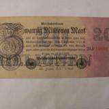 CY - 20000000 20 milioane marci mark 25.07.1923 Reichsbanknote Germania unifata