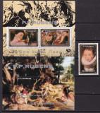 Coreea 1983  pictura  Rubens  MI 2406 + bl.154,155   MNH  w51, Nestampilat