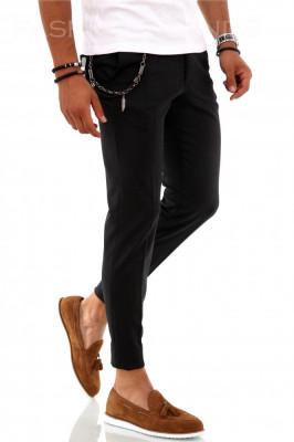 Pantaloni pentru barbati smart casual - negi in carouri - PREMIUM - A1859 foto