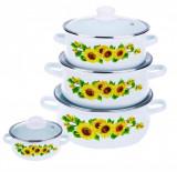 Set Gatit 8 Piese Emailate, Sunflower