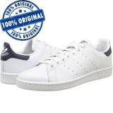 Pantofi sport Adidas Originals Stan Smith pentru barbati - originali - piele, 44, Alb, Piele naturala