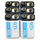 Baterii reincarcabile 9v, 900mah NI-MH