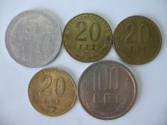 Romania (4): 5 Lei 1978, 20 Lei 1991, 1992, 1993, 100 Lei 1994 foto