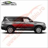 Sticker Splash Off Road Nissan X-Trail - Sticker Auto Dim: 60 cm. x 10.8 cm.