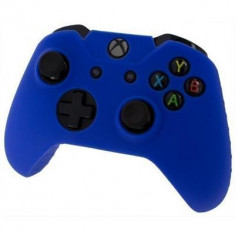 Pro Soft Silicone Protective Cover With Ribbed Handle Grip Blue Xbox One, Huse si skin-uri