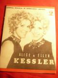 Program - Turneul Surorile Kessler in Romania 1971