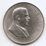 Africa de Sud 1 Rand 1967 - Verwoerd, SOUTH, Argint 15g/800, MM1  KM-72,1 (1)