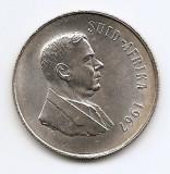 Africa de Sud 1 Rand 1967 - Verwoerd - SUID,  Argint 15g/800 MM1  KM-72,2 (1)