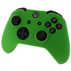 Pro Soft Silicone Protective Cover With Ribbed Handle Grip Green Xbox One, Huse si skin-uri