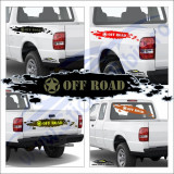 Us Star Off Road - Sticker Auto Dim: 60 cm. x 12 cm.
