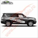 Sticker Splash Off Road Hyundai Tucson - Sticker Auto Dim: 60 cm. x 10.8 cm.