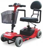 Tricicleta electrica (fotoliu rulant) pentru dizabilitati, varstnici ZT-17-3 CADY ROSU