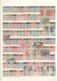 FRANTA.  Lot   peste 500 buc. timbre stampilate