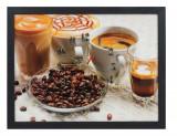 TABLOU CU CEAS INRAMAT 30X40 CM CAFEA, Heinner