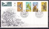 Sud Vest Africa  1974  fauna  pasari  MI 392-95   FDC   w51, Nestampilat
