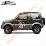 Sticker 4X4 Off Road Dakar - Sticker Auto Dim: 25 cm. x 25 cm.