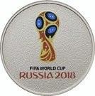 Rusia 25 Rubles 2018 FIFA World Cup Russia;colorized) Cupru-nichel, 27mm UNC !!!, Europa