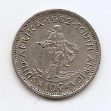 Africa de Sud 10 Cents 1962 - Argint 5,66g/500, KM-60 (1)