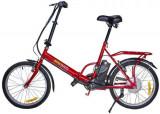 Bicicleta electrica Nova Vento Smart City T2009F, 250 W, Roti 20inch, Viteza maxima 25 Km/h, Autonomie 50 Km (Rosu)