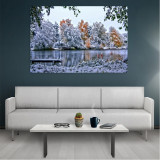 Tablou Canvas Winter, Dimensiunea 80 x 50 cm