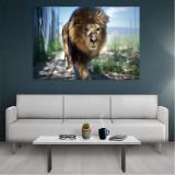 Tablou Canvas Lion, Dimensiunea 80 x 50 cm