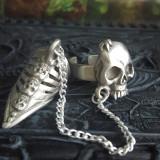 Inel cu gheară Craniu de vampir