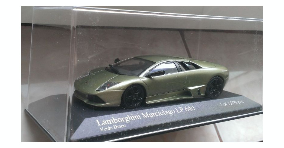 Macheta Lamborghini Murcielago Lp640 Verde Draco Minichamps 1 43