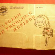Militia jud.Arges -Serviciul Circulatie 1983-Culegere Probleme Rutiere,ITA Arges