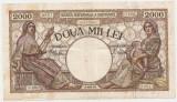 ROMANIA 2000 LEI MARTIE 1943 VF