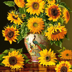 Puzzle Castorland 1000 Christopher Pierce : Sunflowers in a Peacock Vase