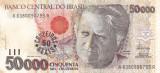 BRAZILIA 50.000 cruzeiros XF!!!